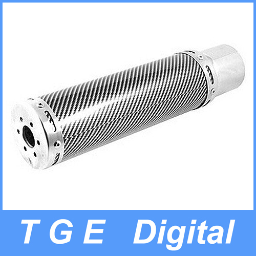 Wholesale Rectangle Pattern Round stainless Steel Exhaust Pipe Silencer Muffler Tip Black Silver Tone for Auto Car