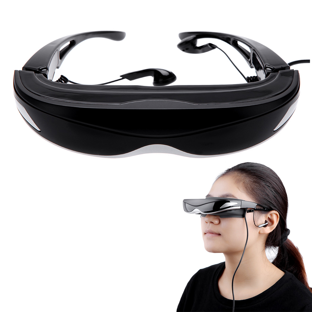 Wholesale 3D Glasses US Plug G quot LCOS Nonradiative Display D D Anti glare Degree Virtual Video Glasses V896