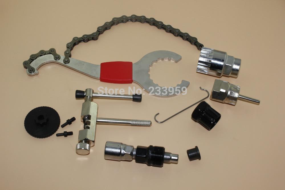 chain hooks - bicycle repair tool flywheel remover socket bottom bracket removing socket tool chain cutter with chain hook crank removing tool