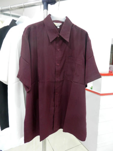 Male silk shirts mulberry silk men shirt,solid color