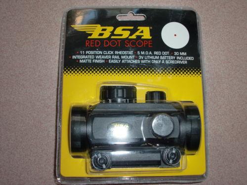 Wholesale BSA mm Red Green Dot Scope w mm Weaver mount RD30 P flashlight hunter scope