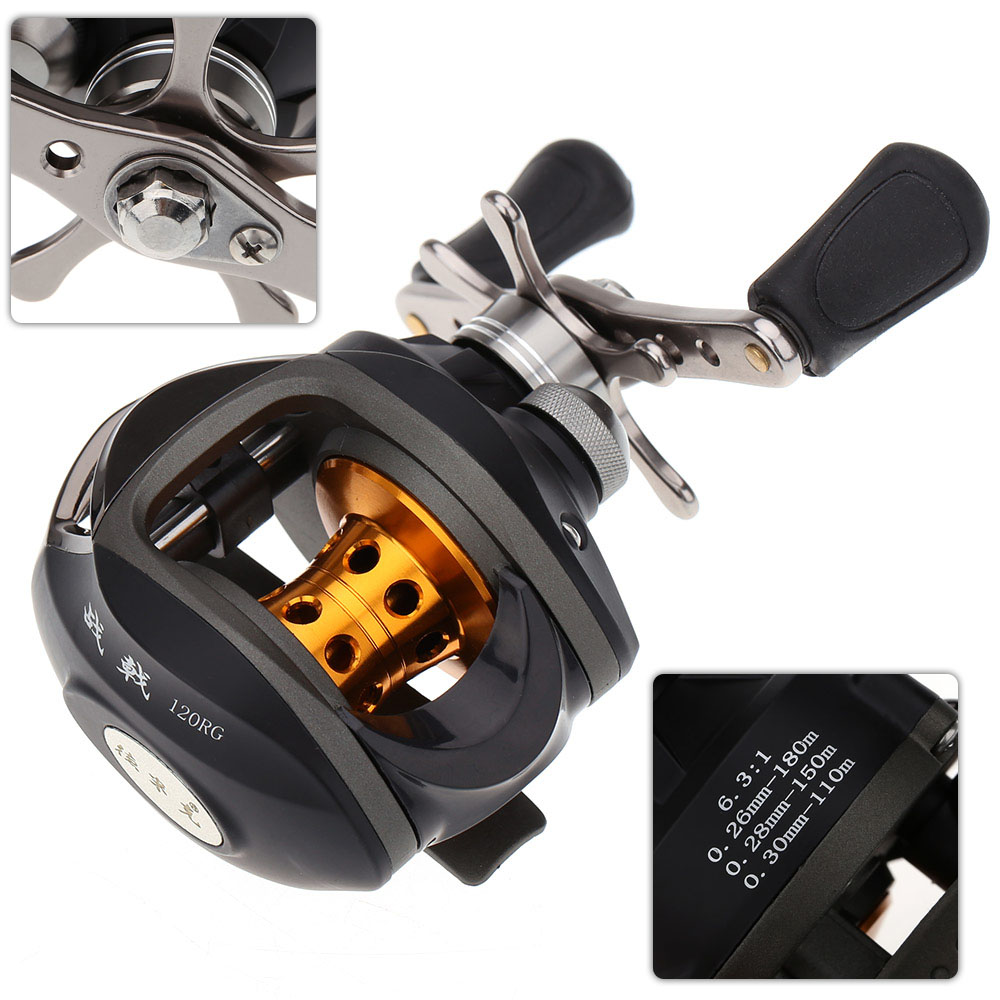 carp fishing reels - 10BB Right Hand Bait Casting Carp Fishing Reel Ball Bearings Pesca High Speed Baitcasting Reel H10236