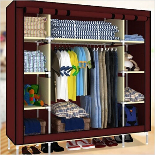 folding clothes rack - Super Large Triple Portable Folding Wardrobe Reinforced Clothes Closet Rack New