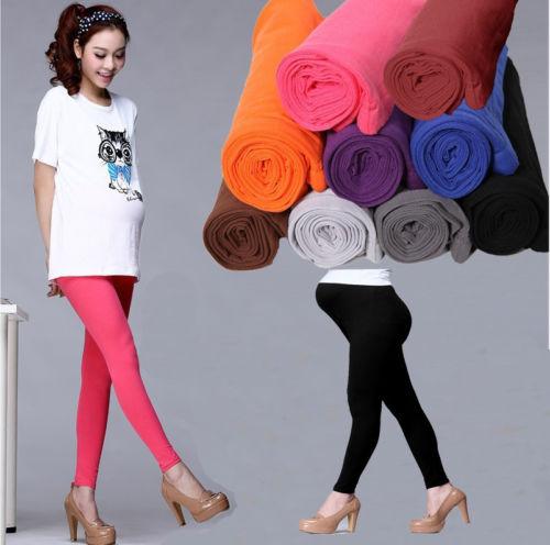 leggings pregnant - New Pregnant Women Maternity Leggings Cotton Over Bump Full Length Pants