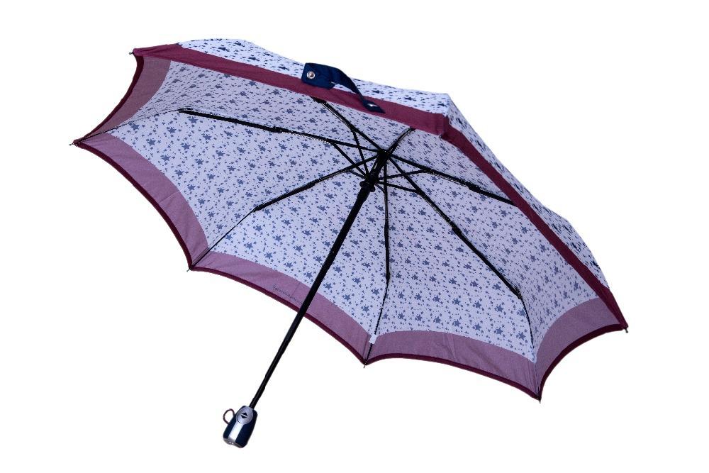 pocket parts - Fully automatic ribs three fold auto open auto close full print star umbrellas cute pocket parasol fiberglass U groove parts joint Spain