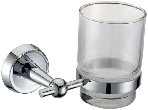 glass sink - Chrome Solid Brass Wall Mounted Sink Bathroom Toothbrush Tumbler Glass Holder