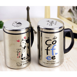 Wholesale Whole Sale Stainless Steel Office Coffee Cup water Bottle Protein Direct Selling Squeeze Drinkware