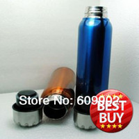 stainless steel double wall bottle - ml Stainless Steel Sports Water Bottle Double wall with pouch color available in red brown
