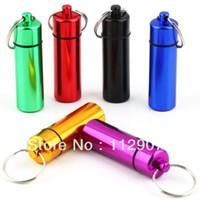 aluminum water tanks - Outdoor portable water bottle aluminum bottle kit tank cartridge keychain bottle of pills