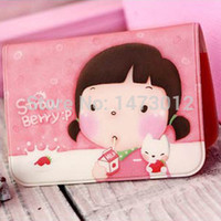 pvc leather car - Korean Fashion Lovely Girl Faux Leather Pvc Square Credit Car Id Holders Card Clips for Cards Piece