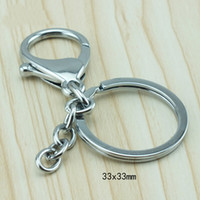 Cheap Wholesale-Brand New Fashion Simple Metal Lobster Clasp Charms Keychain Jewelry