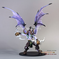 Wholesale DC Unlimited WOW World of Warcraft SERIES DC Illidan Stormrage Action Figure Collection Model Toy WWFG008