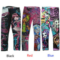 Wholesale Monster High Printed Childs Kids Girls Clothes Pants Childs Leggings Trousers
