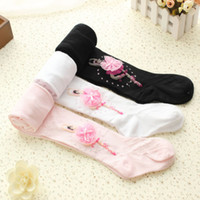 ballet trousers - New Baby Girl Floral Leggings Warm Autumn Winter Kids Cotton Knitted Pants Children Trousers Ballet Dancing Pantyhose