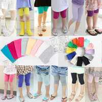 baby girl clothes clearance - Clearance kz Fashion Children summer child clothes kids clothing baby girls colorful pants leggings cropped trousers