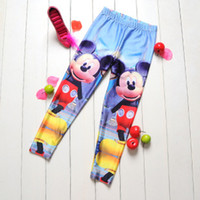 animate money - Digital sky girls pants Animated cartoon Mickey money children Leggings Mickey Leggings