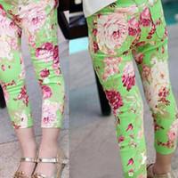 baby pink skinny jeans - Hot Lovely Baby Kid Girls Floral Pants Elastic Waist Jeans Slim Leggings Trousers