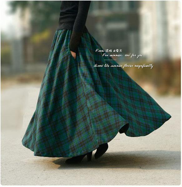 2017 Wholesale 2015 Autumn Winter Vintage Plaid Skirt Women'S Slim ...