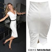 big bag split - new women skirt knee length skirt split step package hip skirt bag skirt big yards female