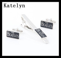 beatles tie - Music Lover The Beatles Metal Cuff Link and Tie Clip Sets Men s Jewelry Cuff Link and Tie Clip Sets Accessories Movie Jewelry