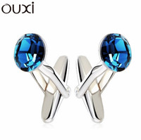 best discount coupons - Best Crystal amp Quality Big Coupon Discount Cufflinks Jewelry Charm Gemelos Bijuterias White Gold Plated Nail Cuff Button