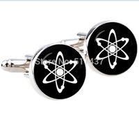 atom physics - pair mm silver cufflinks Atom Cufflinks Quantum Physics Handmade Vintage Cuffl inks for men Glass photo Jewelry