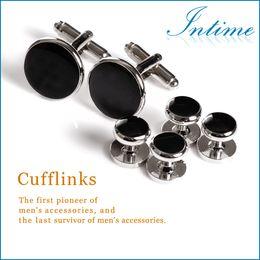 Wholesale High Quality Metal Buttons Cufflinks and Studs Sets Best Man Silver buttons Cufflinks Shirt studs men s accessories