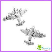 airplane designer - Novelty Airplane Fighter Designer Cufflinks Plain Smooth Metal Cuff Link Sleeve Nails Steel Plated Men Buttons Business Party