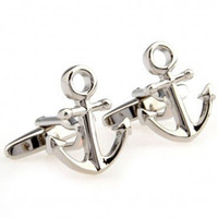 anchor tie clip - Unusual Stainless Steel Anchor Cufflinks for Men Antique Vintage Silver Cufflinks Personalized Tie Clips and Cufflinks Tie Bar