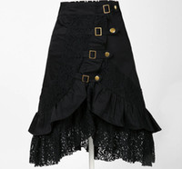 Wholesale clothing women party skirt lace black steampunk street clubwear gypsy unique design drop ship plus size fashions