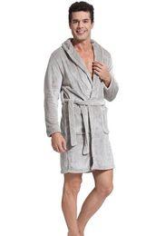 Wholesale Godsen Men s Autumn Winter Thick Cotton Bathrobes men robes fleece