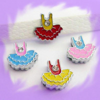 Wholesale 50pcs mm Dress Slide Charms Fit Collar Wristband DIY Accessories