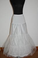 Una línea o vestido de novia de sirena Slim 2-hoop crinolina falda falda enagua con cintura elástica