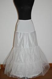 Falda de crinolina sirena en venta-Una línea o vestido de novia de sirena Slim 2-hoop crinolina falda falda enagua con cintura elástica