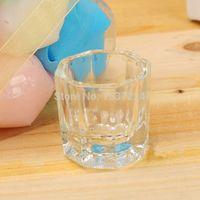 Cheap Wholesale-Free Shipping 1Pcs Glass Crystal Bowl Cup Dappen Dish Octagonal glass Acrylic Nail Art Tool Nail Art Equipment