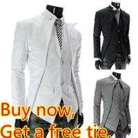 asymmetrical jacket men - Get Free Tie HOT Men s Blazers Jacket The Asymmetrical Designed Suits The Unique Design X309