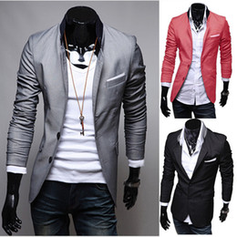 Discount Mens Red Casual Dress Jacket  2017 Mens Red Casual Dress ...