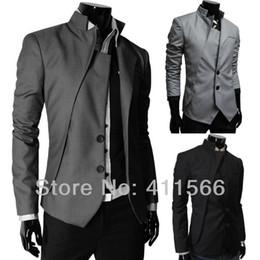 Wholesale Venta al por mayor Libre nuevos Mens del diseño especial de los trajes solo pecho juegos formales Slim Fit Dos chaquetas casuales Botón de colores