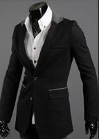 asymmetrical mens jacket - hot fashion asymmetrical pocket men s suit slim buckle blazer new mens suit jacket