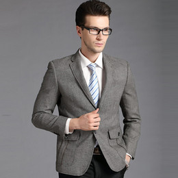 Discount Men S Grey Plaid Suit | 2017 Men S Grey Plaid Suit on ...