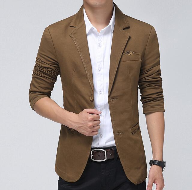 Wholesale-Casual Blazer Men Khaki,Brown, Black Fashion Slim Mens ...