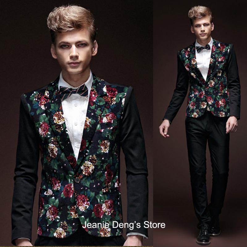 2017 Wholesale Spring Fall Fashion Casual Unique Man'S Floral ...