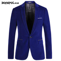 Wholesale Spring male casual gold velvet suit the trend of fashion male version of the slim suit jacket small