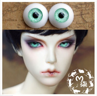 green sand - BJD doll eyes mm sand light green acrylic half ball SD MSD eyes pair