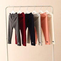 Wholesale New Style Baby Toddlers Girls Fleece Lined Leggings Kids Winter Thick Warm Pants Trousers