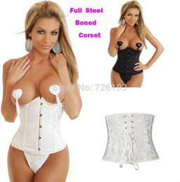 Wholesale Full Steel boned Plus Size Tops Bustier Lingerie Waist Training corset dress Bustier Sexy Full Steel Boned Underbust Corset