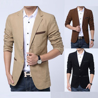Wholesale UK Style Classic Men Blazer New Arrival M XL Fashion Brand Two Button Casual Suit Blazer Jackets F0262