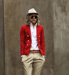 Wholesale-Fashion casual blazer velvet men's clothing suit fashion slim red male civies men blazer blaser jackets