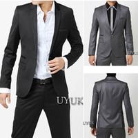bagged blazer - fashion men luxury elegant fashion metal bag buckle slim blazer male suit coat