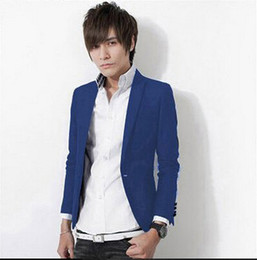 Wholesale- Men's New Arrival Brand Fashionable Polyester Full Casual Blazer Suit Korean Candy Color Stylish Man Blazers Free